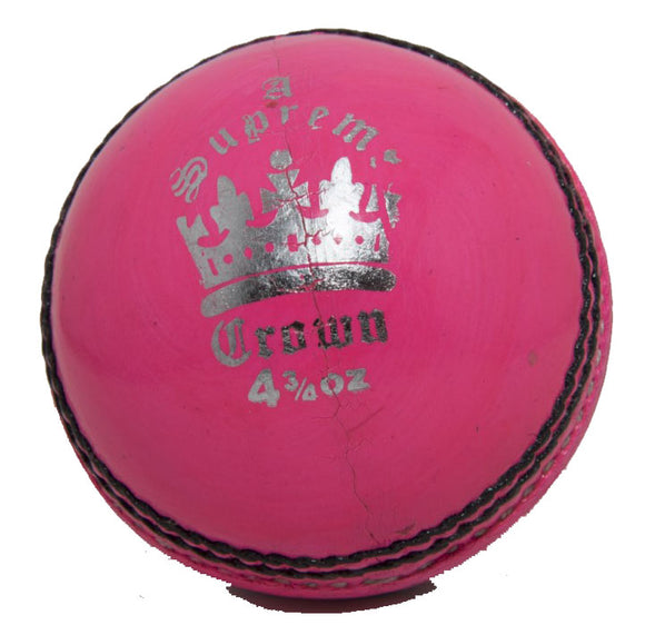 Martin Berrill Sports Supreme Crown Cricket Ball (Pink) - Sports Ball Warehouse