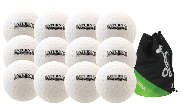 Kookaburra Dimple Saturn Hockey Ball Twelve Pack White - Sports Ball Warehouse