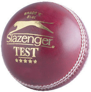 Slazenger Test (5 1/2 Oz) Cricket Ball - Sports Ball Warehouse