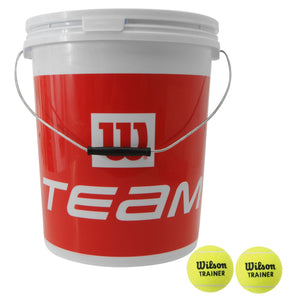 Wilson Team Trainer Bucket 72 Balls - Sports Ball Warehouse
