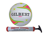 Gilbert APT Netball with Hand Pump - Sports Ball Warehouse