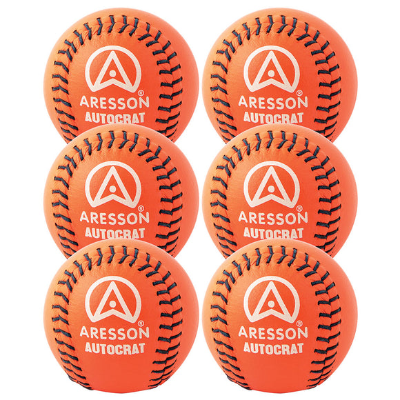 Aresson Autocrat Rounders Ball 6 Pack (Orange) - Sports Ball Warehouse