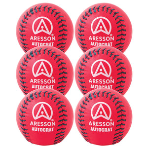 Aresson Autocrat Rounders Ball 6 Pack (Pink) - Sports Ball Warehouse