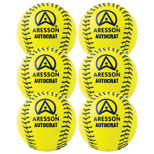 Aresson Autocrat Rounders Ball 6 Pack (Yellow) - Sports Ball Warehouse