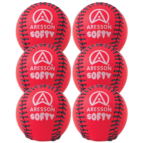 Aresson Softy Rounders Ball Pink 6 Pack - Sports Ball Warehouse