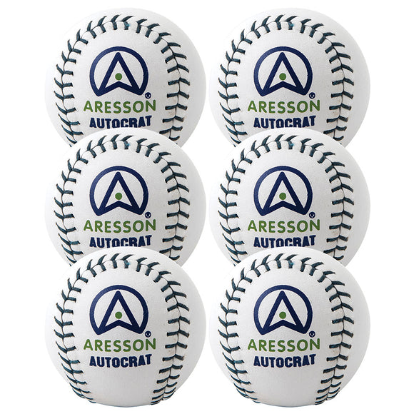 Aresson Super Match Rounders Ball 6 Pack - Sports Ball Warehouse