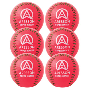 Aresson Super Match Rounders Ball 6 Pack (Pink) - Sports Ball Warehouse