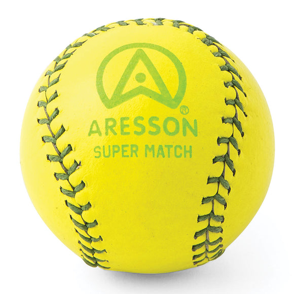 Aresson Super Match Rounders Ball (Yellow) - Sports Ball Warehouse