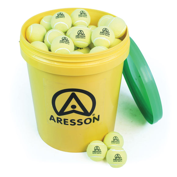 Aresson Super Match Tennis Ball - 96 Bucket Pack - Sports Ball Warehouse