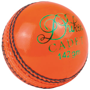 Dukes Cadet A Cricket Ball (Junior - Orange) - Sports Ball Warehouse