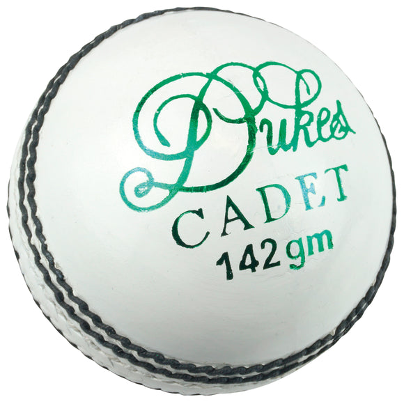 Dukes Cadet A Cricket Ball (Junior - White) - Sports Ball Warehouse