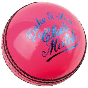 Dukes Club Match A Cricket Ball (Senior - Pink) - Sports Ball Warehouse