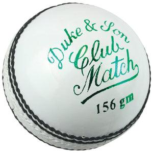 Dukes Club Match A Cricket Ball (Senior - White) - Sports Ball Warehouse