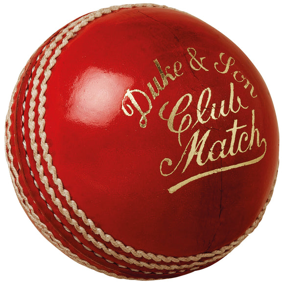 Dukes Club Match A Cricket Ball (Senior - Red) - Sports Ball Warehouse