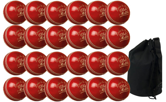 Dukes Club Match Senior Red 24 Pack With Ball Bag - Sports Ball Warehouse