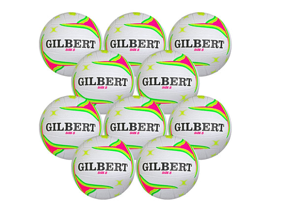 Gilbert APT 10 Ball Netball Pack