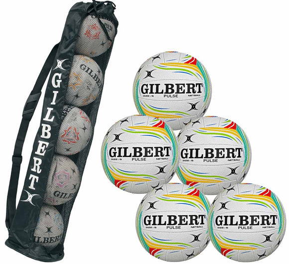 Gilbert Pulse 5 Ball Pack With Tube - Sports Ball Warehouse