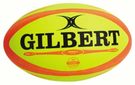 Gilbert Omega Rugby Ball Fluo - Sports Ball Warehouse