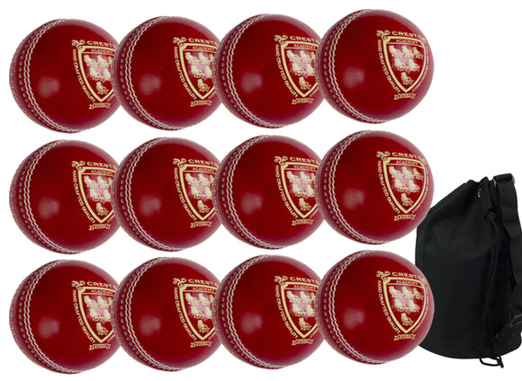 Gray Nicolls Crest Academy Junior Red 12 Pack With Ball Bag - Sports Ball Warehouse