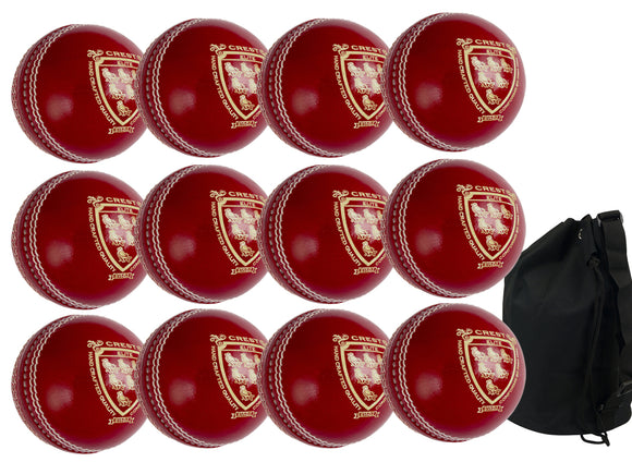 Gray Nicolls Crest Elite Junior Red 12 Pack With Ball Bag - Sports Ball Warehouse