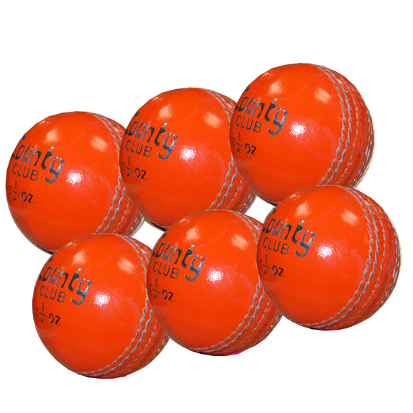 Hunts County Club Ball Senior Orange 6 Pack - Sports Ball Warehouse