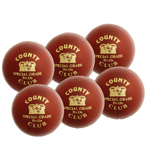 Hunts County Club Ball Senior Red 6 Pack - Sports Ball Warehouse