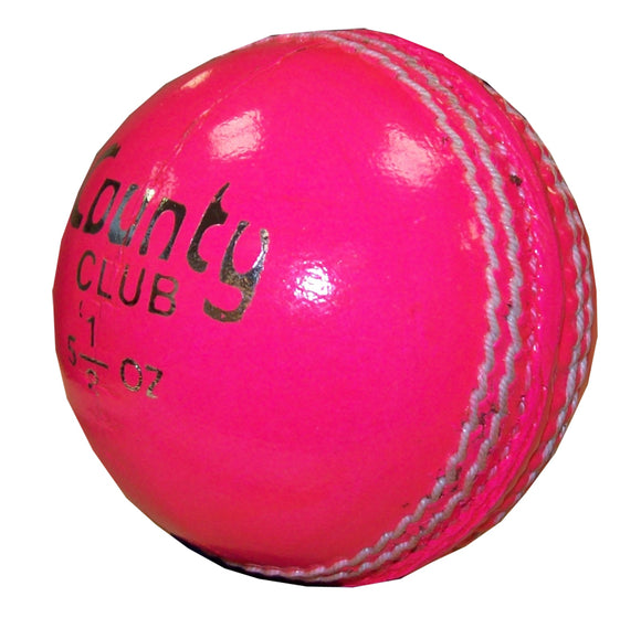 Hunts County Club Pink Cricket Ball - Sports Ball Warehouse