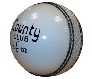 Hunts County Club White Cricket Ball - Sports Ball Warehouse