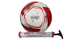 Samba Infinity Training Football (White/Red) with Hand Pump - Sports Ball Warehouse