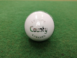 Hunts County League Special (White) Cricket Ball - Sports Ball Warehouse