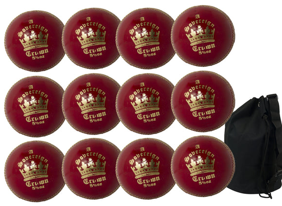 MBS Sovereign Crown Senior Red 12 Pack With Ball Bag - Sports Ball Warehouse
