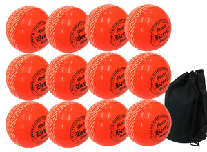 MBS Storm Ball Junior Orange 12 Pack With Ball Bag - Sports Ball Warehouse