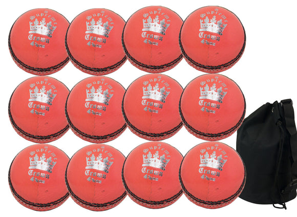 MBS Supreme Crown Junior Orange 12 Pack With Ball Bag - Sports Ball Warehouse