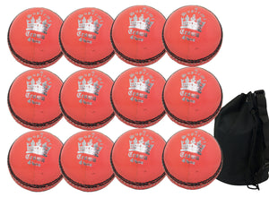MBS Supreme Crown Senior Orange 12 Pack With Ball Bag - Sports Ball Warehouse