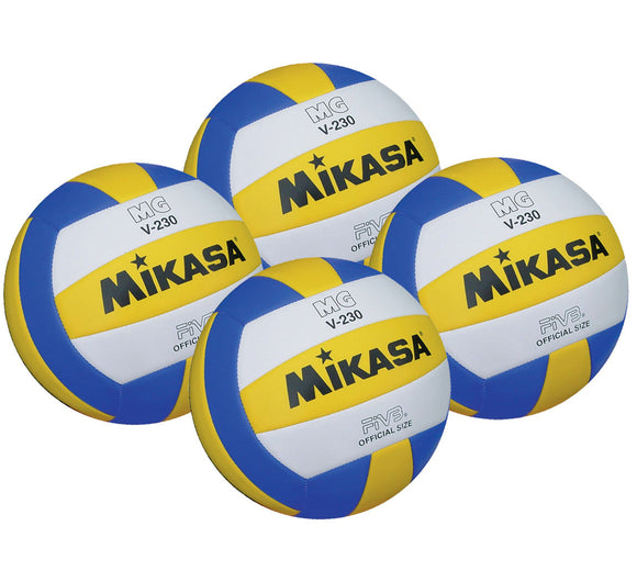 Mikasa MGV230 Schools Volleyball 4 Pack - Sports Ball Warehouse