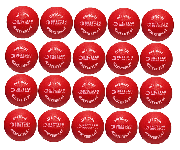 Official British Dodgeball Foam Dodgeball - Pack of 20 (Red)