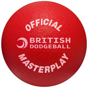 Official British Dodgeball Foam Dodgeball - Single (Red)