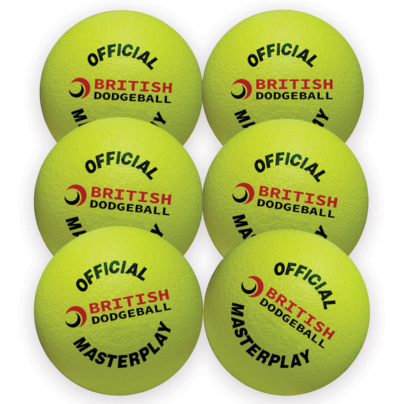Official UKDBA Foam Dodgeball - Set of 6 - Sports Ball Warehouse