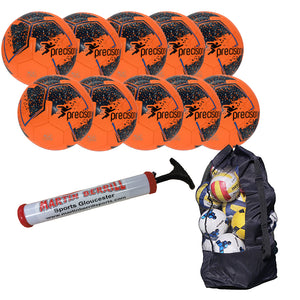 Precision Fusion IMS Ten Pack with Ball Bag - Fluo Orange - Sports Ball Warehouse