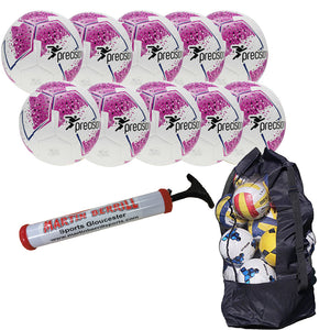 Precision Fusion IMS Ten Pack with Ball Bag - Pink - Sports Ball Warehouse