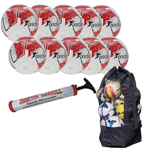 Precision Fusion IMS Ten Pack with Ball Bag - Red - Sports Ball Warehouse