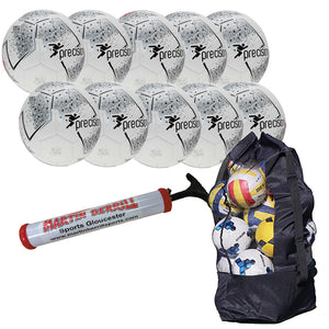Precision Fusion IMS Ten Pack with Ball Bag - Silver - Sports Ball Warehouse