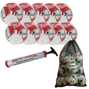 Precision Fusion IMS Ten Pack with Mesh Ball Sack - Red - Sports Ball Warehouse