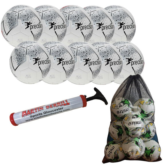 Precision Fusion IMS Ten Pack with Mesh Ball Sack - Silver - Sports Ball Warehouse
