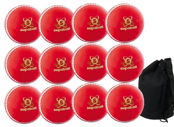 Readers Supaball Senior Red 12 Pack With Ball Bag - Sports Ball Warehouse