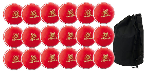 Readers Supaball Senior Red 18 Pack With Ball Bag - Sports Ball Warehouse