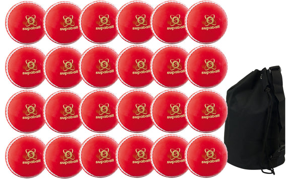 Readers Supaball Junior Red 24 Pack With Ball Bag - Sports Ball Warehouse