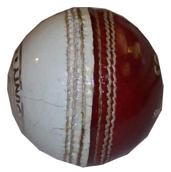 Hunts County Coaching Cricket Ball (Red/White) - Sports Ball Warehouse