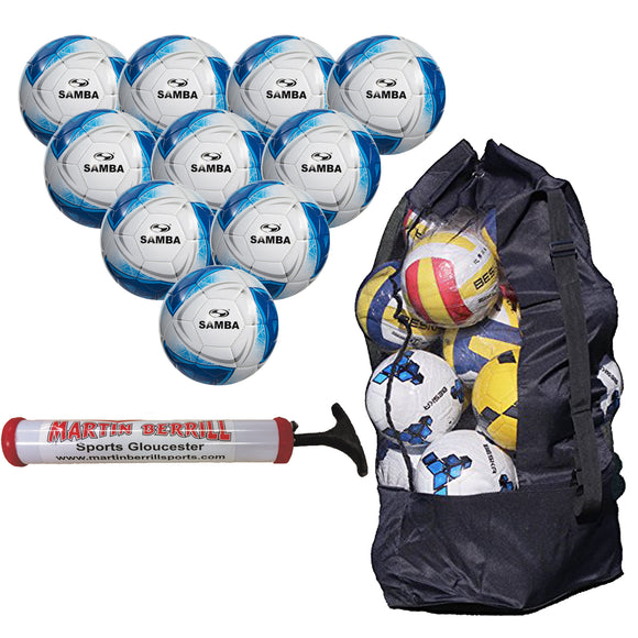 Samba Infiniti EDU Football Ten Pack With Bag Sack - Sports Ball Warehouse