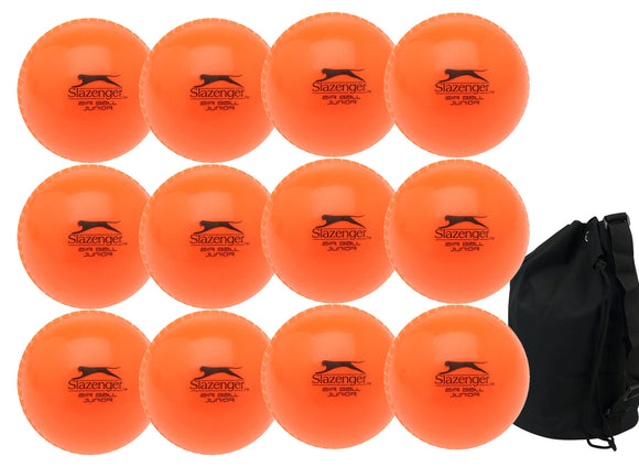 Slazenger Airball Senior Orange 12 Pack With Ball Bag - Sports Ball Warehouse